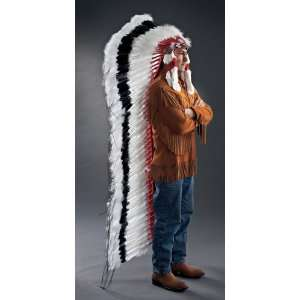 Native American Black Cloud Double Trailer Headdress or War Bonnet
