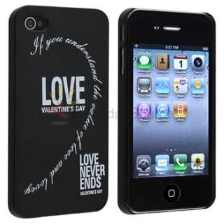 2pcs Love Never Ends Hard Valentine Lover Couple Case Cover for iPhone