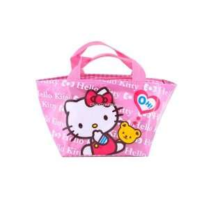 Beautiful Hello Kitty Girls Lunch Box Case Bag Pink