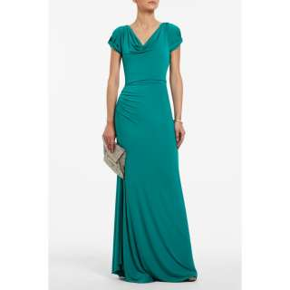 2012 BCBG MAX AZRIA Marta Jersey Draped Evening Cocktail Gown Dress