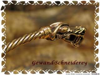 Torc Torques BRONZE Dragons Medieval Celtic Viking