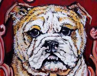 English Bulldog HP Portrait Ceramic Pot Dog Jar
