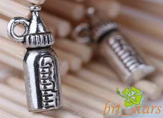 180 Pcs Tibetan silver bali style Baby small bottle charms Pendants 17