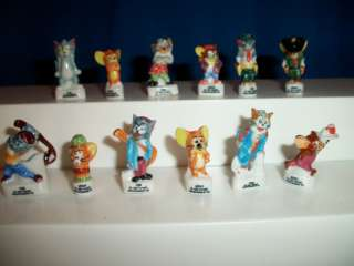 TOM & JERRY French Porcelain Set 12 FEVES Figures SER.1