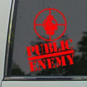 Public Enemy Red Decal Rap Band Car Truck Window Red