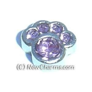 Paw Birthstone June Floating Locket Charm Jewelry