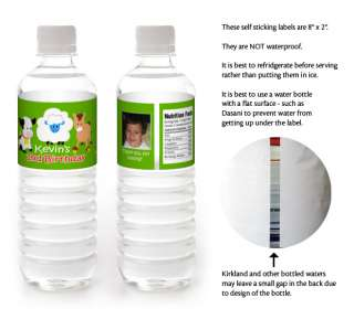 BARNYARD FARM Birthday Party WATER BOTTLE LABELS