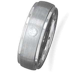 Tungsten Carbide and CZ Mens Ring   Size 8.5 West Coast