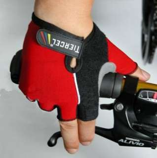 Red New Stylish Cycling MTB / Road Bike Bicycle Half Finger Gloves