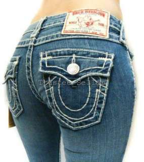 TRUE RELIGION Women Joey Super T Stitch Omaha Jeans