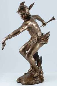 Greek God of Messenger Thieves Hermes Mercury Statue