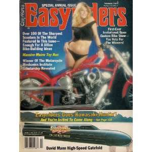 DAVID MANN EASYRIDERS MAGAZINE FEBRUARY 1989 KAWASAKI