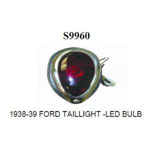 Racing Power S9960 Ford Tail Light Kit with LED Bulb   Red Glass Lens