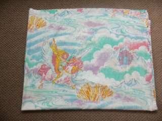 Vintage 1985 SHE RA Twin Size Flat Bed Sheet Fabric EUC