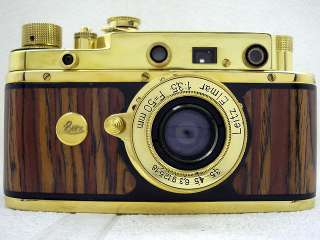 RUSSIAN GOLD 35MM RANGEFINDER CAMERA LEICA II LUFTWAFFE WWII EXCELLENT