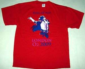 MICHAEL JACKSON king of pop official T shirt LARGE