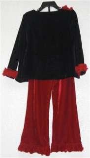 NWT Greggy Girl Boutique $70 2 Pc Velour Set Top & Pants Sz 3T Black