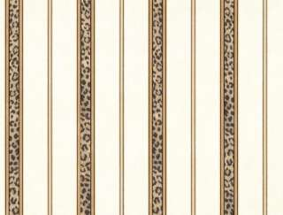 FORMALL FAUX, LEOPARD PRINT STRIPES Wallpaper FF22073