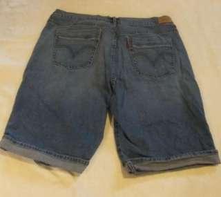 16 Levis 515 Cuffed Bermuda Shorts Denim / Blue Jeans Shorts Stretch