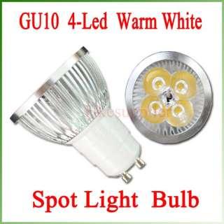 Lot 5 X GU10 Warm White LED Spot Lamp Light Bulb 4x1W