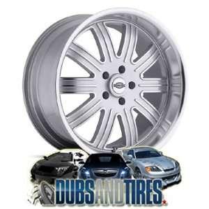 20 Inch 20x9 Huntington wheels Springdale Silver wheels rims