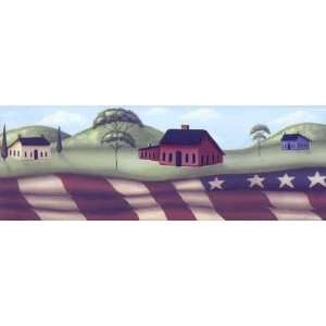 Americana Flag Wallpaper Border: Home Improvement