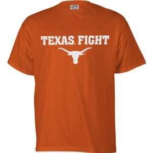 Texas Longhorns Orange Texas Fight T Shirt Sports