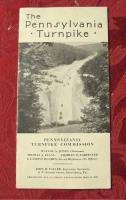 1940 Pennsylvania TURNPIKE Brochure map fare schedule