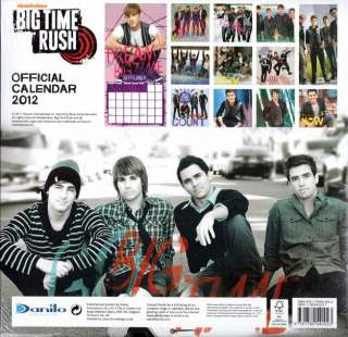 BIG TIME RUSH OFFICIAL 2012 SQUARE WALL CALENDAR BRAND NEW AND SEALED