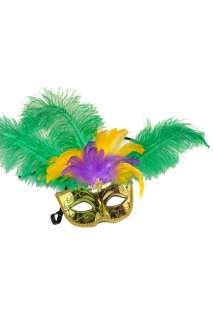 Mardi Gras Celebration Halloween Mask (Gold)