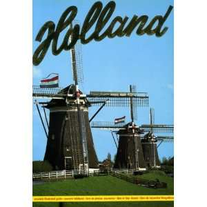 Holland Souvenir Illustrated Guide Euro Color Cards Books