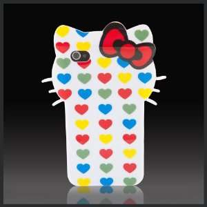 Hello Kitty Hearts Big Face w bow Enigma flexible TPU soft skin case