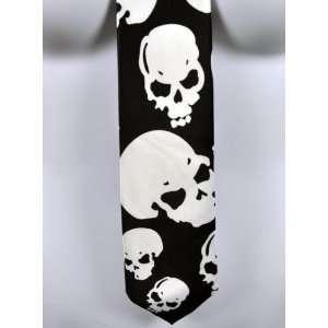 Creepy Skull Neck Tie Rockabilly Ink Tattoo Halloween