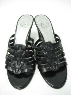 FRANCO SARTO Tan Patent Leather Strappy Sandals Pumps 6