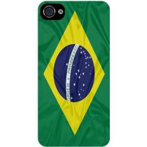 Rikki KnightTM Brazil Flag White Hard Case Cover for Apple