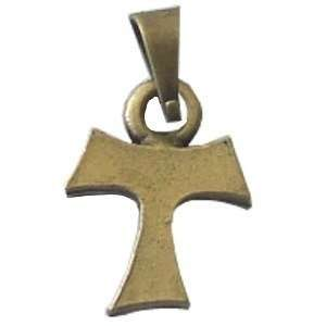 Tau cross   Bronze tone   small (1cm or 0.4) Rosary