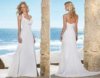 Chiffon Beach Wedding Dress bridal Gown New Size Free ♥