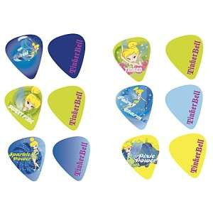 is a new package of 6 Disney TINKER BELL guitar picks by Washburn