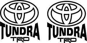 2X Toyota Tundra Tacoma TRD 4X4 Truck Decal Sticker