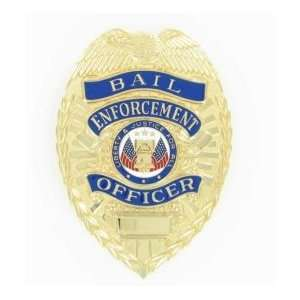 Bail Enforcement Officer Gold Shield Badge   Blackinton A9379, Police