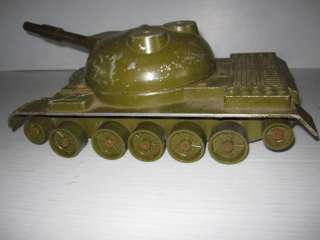 Old Large Metal Soviet T 55 Panzer Toy Military Tank