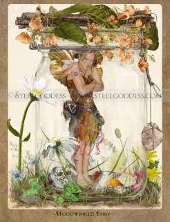 FAIRY GARDEN Spell Book of Shadows Pages Wicca Art BoS