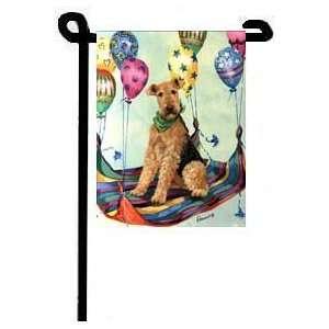 Airedale   Birthday   High Flyer   Garden Flag 11x15   2