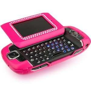 T Mobile Sidekick III 3 Hot Pink Rubber Diamond Case with