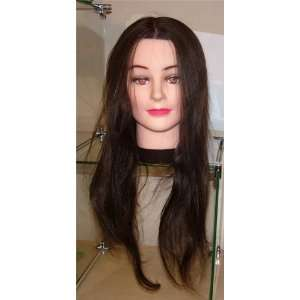 Elite 24 Long Mannequin Head with Brown Hair Beauty