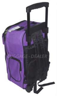 19 Wheel Back Pack Rolling Luggage School Book Bag Travel BLACK BLUE
