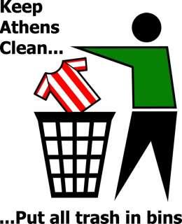 KEEP ATHENS CLEAN panathinaikos funny football t shirt