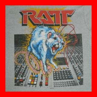 ROLL VINTAGE TOUR T SHIRT CONCERT ORIGINAL 80s ROCK TEE motley crue