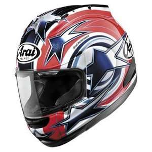 Edwards Full Face Motorcycle Riding Race Helmet   Red Automotive