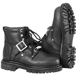 River Road Crossroads Buckle Womens Leather Touring Motorcycle Boots
